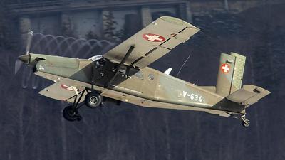 V-634 - Pilatus PC-6/B2-H2 Turbo Porter - Switzerland - Air Force