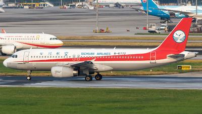 A picture of B6772 - Airbus A320232 - Sichuan Airlines - © HM Liu