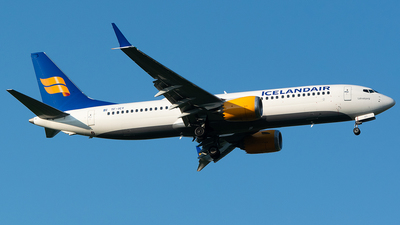 A picture of TFICY - Boeing 737 MAX 8 - Icelandair - © John Newsome