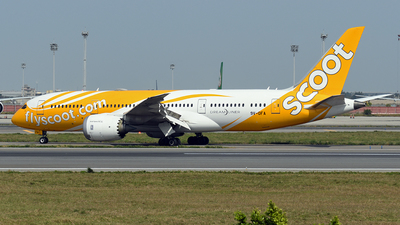 A picture of 9VOFA - Boeing 7878 Dreamliner - Scoot - © ECHO