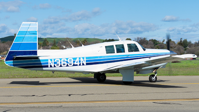 A picture of N3694N - Mooney M20G - [680039] - © Taylor Kim