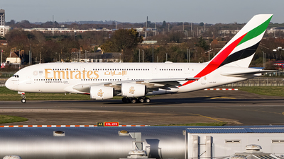 A picture of A6EUT - Airbus A380842 - Emirates - © Ervin Eslami | UK Jets