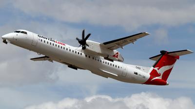 A picture of VHLQQ - De Havilland Canada Dash 8400 - QantasLink - © Wal Nelowkin