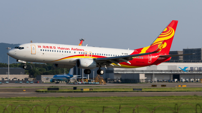 A picture of B1493 - Boeing 73786N - Hainan Airlines - © Lazy Clutch