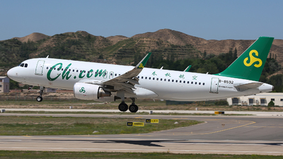 A picture of B8592 - Airbus A320214 - Spring Airlines - © SEN BAI