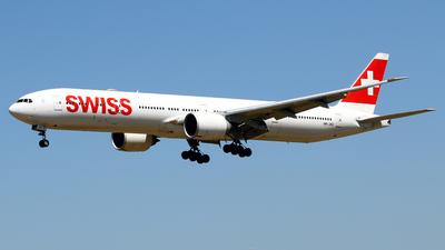 A picture of HBJNC - Boeing 7773DE(ER) - Swiss - © Javier Rodriguez - Amics de Son Sant Joan
