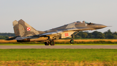 66 - Mikoyan-Gurevich MiG-29A Fulcrum - Poland - Air Force