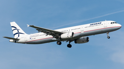 A picture of SXDNF - Airbus A321231 - Aegean Airlines - © Wessel van Alphen