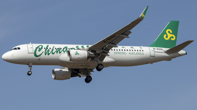 A picture of B8000 - Airbus A320214 - Spring Airlines - © Tom Cheng