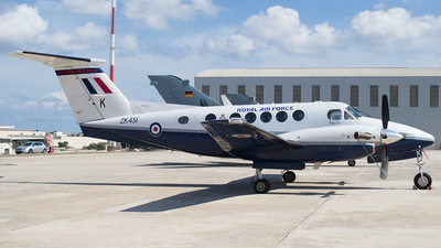 ZK451 - Beechcraft B200 Super King Air - United Kingdom - Royal Air Force (RAF)