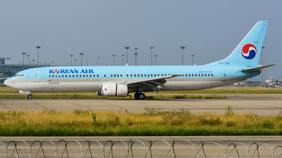 A picture of HL7716 - Boeing 7379B5 - Korean Air - © D_Y6888