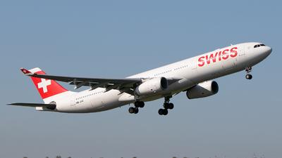 A picture of HBJHE - Airbus A330343 - Swiss - © Freek Blokzijl