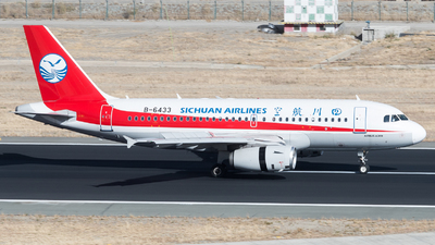 A picture of B6433 - Airbus A319133 - Sichuan Airlines - © ShirokaneRinko