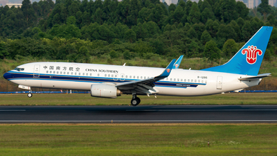 A picture of B1286 - Boeing 73781B - China Southern Airlines - © SunnyZUUU