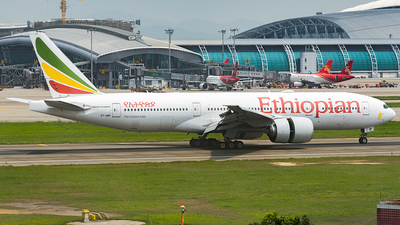 A picture of ETANP - Boeing 777260(LR) - Ethiopian Airlines - © ZGGG RWY01