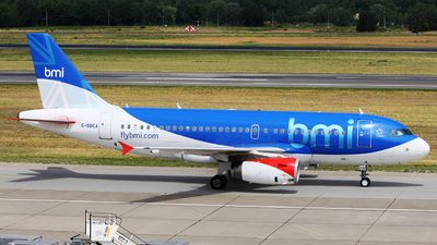 G-DBCA - Airbus A319-131 - bmi British Midland International