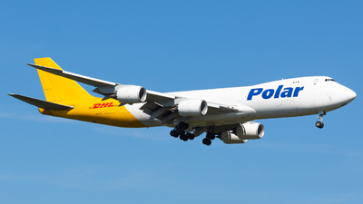 A picture of N855GT - Boeing 74787U(F) - DHL - © Donald  E Moore