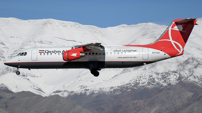 A picture of EPFQT - Avro RJ100 - Qeshm Airlines - © Ehsan BG
