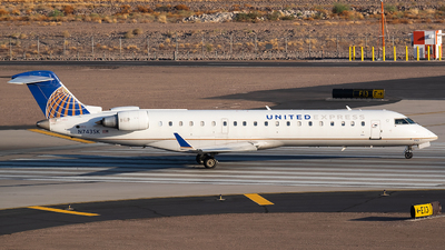 A picture of N743SK - Mitsubishi CRJ701ER - United Airlines - © Cole McAndrew