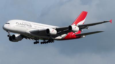 A picture of VHOQB - Airbus A380842 - Qantas - © Kyan Ooi Ting Yi