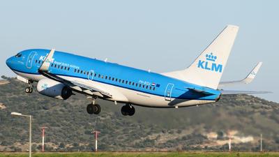 A picture of PHBGU - Boeing 7377K2 - KLM - © George Chaidaris