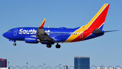 A picture of N7827A - Boeing 73779P - Southwest Airlines - © Rocky Wang