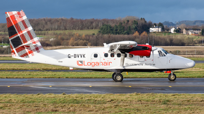 A picture of GBVVK - De Havilland Canada DHC6300 Twin Otter - Loganair - © Kyle McKinlay