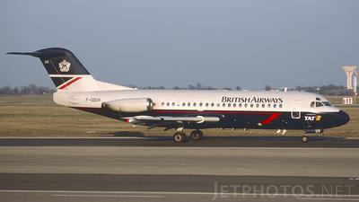 F-GDUV - Fokker F28-2000 Fellowship - British Airways (TAT European Airlines)
