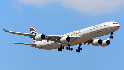 A6-EHE - Airbus A340-642X - Etihad Airways