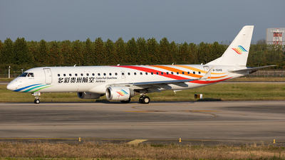 A picture of B3242 - Embraer E190LR - Colorful GuiZhou Airlines - © Ji donghao