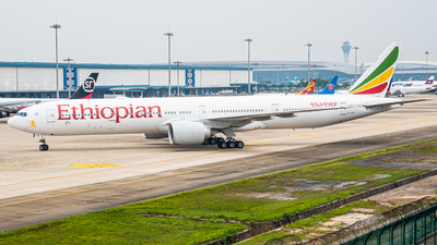 A picture of ETAPY - Boeing 77736N(ER) - Ethiopian Airlines - © Huang Weizhao