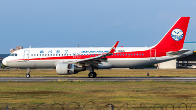 A picture of B1665 - Airbus A320214 - Sichuan Airlines - © XINPENG_YANG