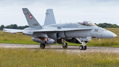 J-5012 - McDonnell Douglas F/A-18C Hornet - Switzerland - Air Force