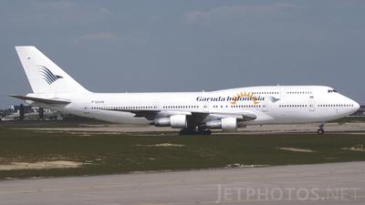 F-GSUN - Boeing 747-312 - Garuda Indonesia (Corsair)