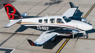 ZS-BEF - Beechcraft 58 FoxStar Baron - Private