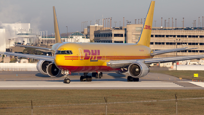 A picture of N372CM - Boeing 767338(ER)(BDSF) - DHL - © steve