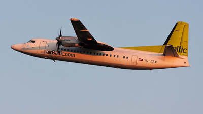 YL-BAW - Fokker 50 - Air Baltic