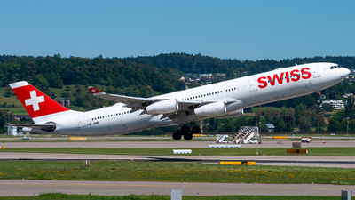 A picture of HBJMB - Airbus A340313 - Swiss - © Raphael Oletu