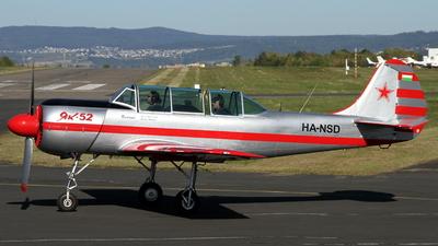 HA-NSD - Yakovlev Yak-52 - Private