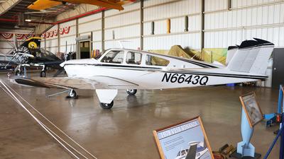 N6643Q - Beechcraft V35B Bonanza - Private