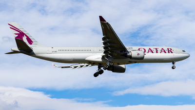 A picture of A7AED - Airbus A330302 - Qatar Airways - © John Leivaditis