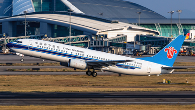 A picture of B5356 - Boeing 73781B - China Southern Airlines - © ChaleLu