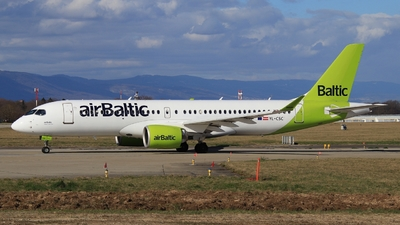 A picture of YLCSC - Airbus A220300 - Air Baltic - © AirBusAl
