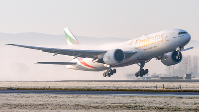 A picture of A6EWI - Boeing 77721H(LR) - Emirates - © McG