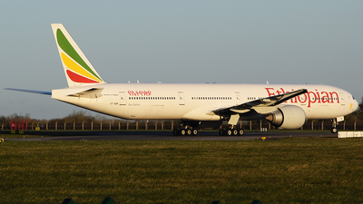 A picture of ETASK - Boeing 777360(ER) - Ethiopian Airlines - © John Fitzpatrick