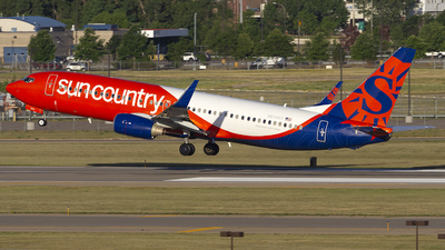 A picture of N834SY - Boeing 7378KN - Sun Country Airlines - © Jeremy D. Dando