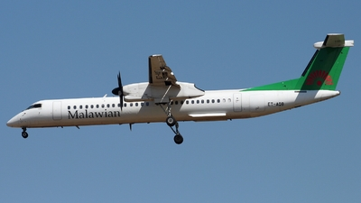 A picture of ETAQB - De Havilland Canada Dash 8400 - Malawian Airlines - © Timothy Brandt