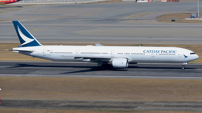 A picture of BHNS - Boeing 77731H - Cathay Pacific - © Jeffrey.W