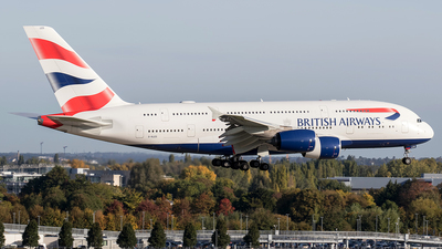 G-XLEG - Airbus A380-841 - British Airways