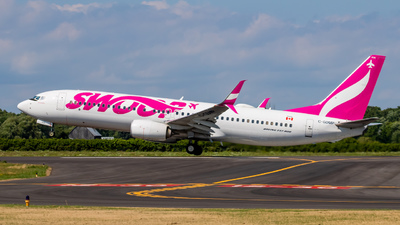 A picture of CGDMP - Boeing 7378CT - Swoop - © Michael MacLeod
